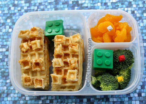 Homemade Lego shaped waffles