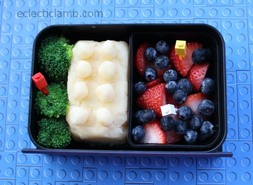 Lego Mashed Potato bento
