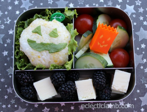 Pumpkin Onigiri Lunch