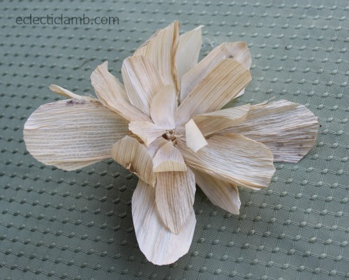 Corn husk flower barrette
