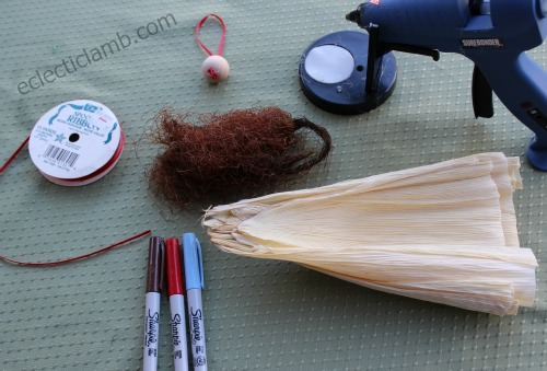 Supplies for Corn Husk Angel
