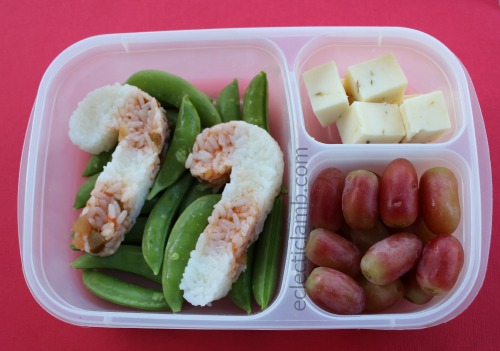 Candy Cane Rice Bento Lunch