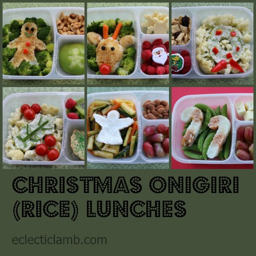 Christmas Rice Lunches Collage