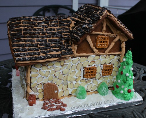 Gingerbread House Bakery Backyard
