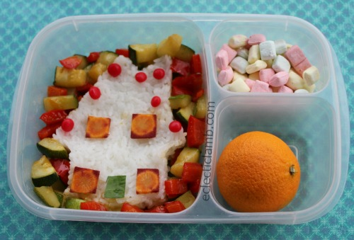 Gingerbread House Onigiri Bento Lunch