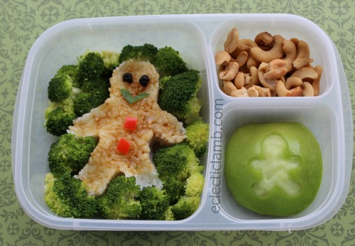 Gingerbread Man rice bento lunch