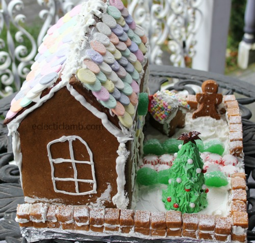 Necco Gingerbread House Side