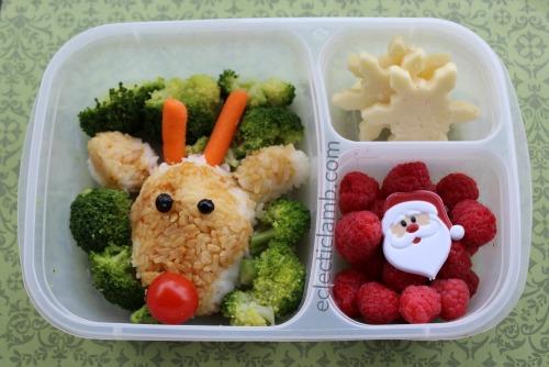 Reindeer Rice Bento Lunch