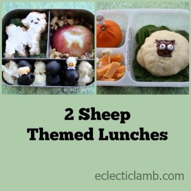 2 Sheep lunches Collage