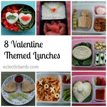 8 Valentine Lunches Collage