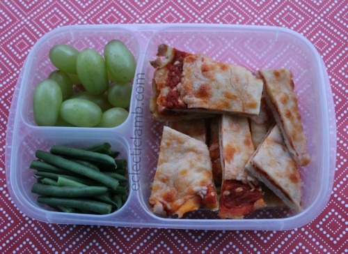 Easy to eat pizza lunch