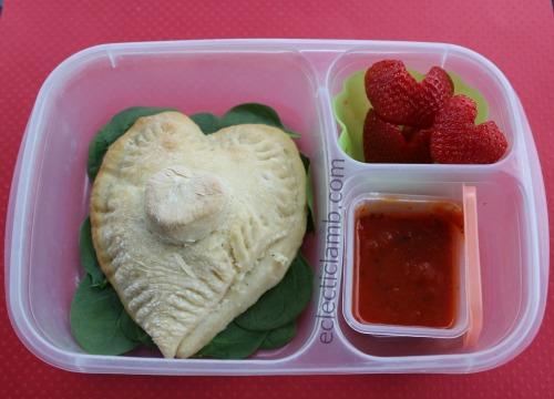 Valentine Calzone Lunch