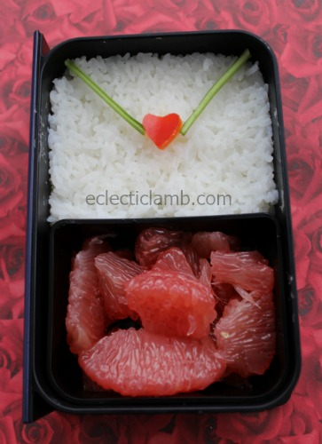 Valentine envelope bento lunch