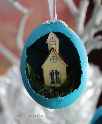 Church Easter Egg Tree Ornament