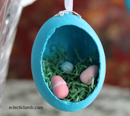 Easter Eggs in Grass Diorama Egg