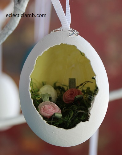 Flowers Diorama Easter Egg