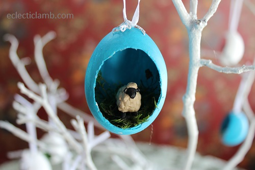 Sheep Easter Egg Ornament