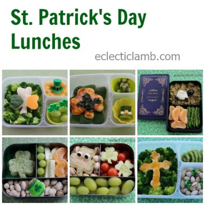 St Patricks Day lunch Collage