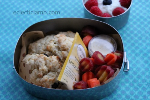 Blueberry Scones bento lunch