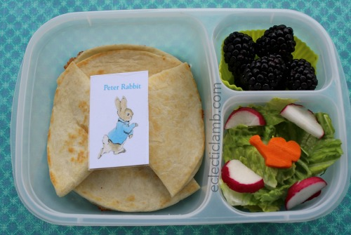 Peter Rabbit Quesadilla Lunch