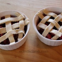 Individual Sour Cherry Cobblers