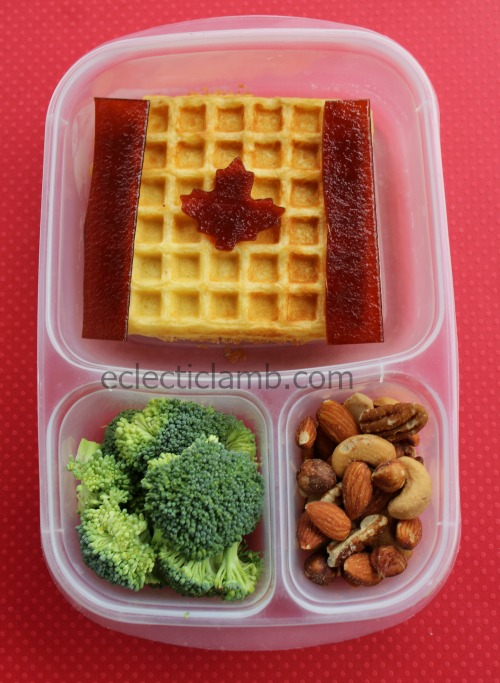 Canadian Flag Waffle Lunch