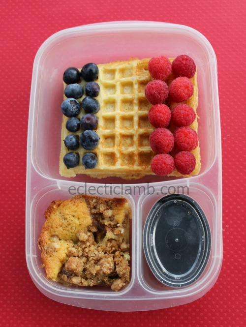 France Flag Waffle Lunch