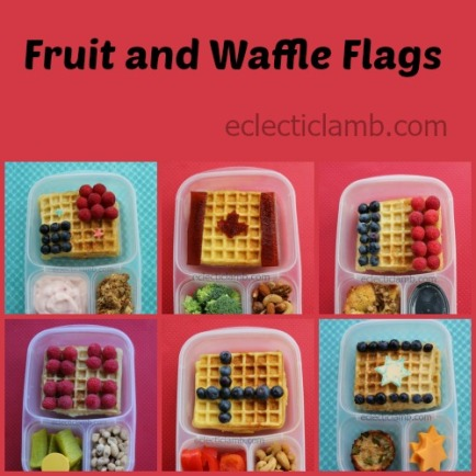 Fruit and Waffle Flags Collage