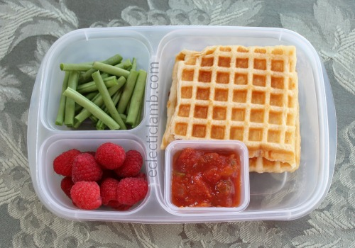 Waffle Pizza Lunch