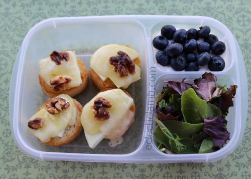 apple cheddar walnut toasts lunch