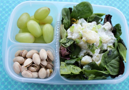 cottage cheese potato salad lunch