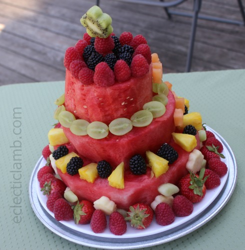 Fresh Watermelon Birthday Cake | Eclectic Lamb