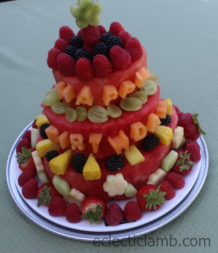 Fresh Watermelon Birthday Cake