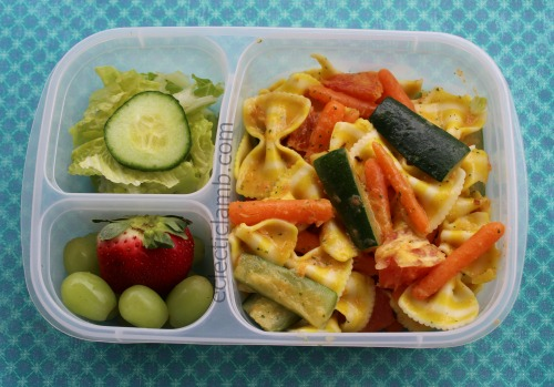 pasta with blender sauce lunch