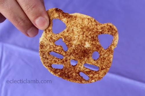 Cat Cinnamon Tortilla Chip Close