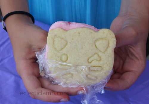 Cat Vanilla Cookie Strawberry Ice Cream Sandwich