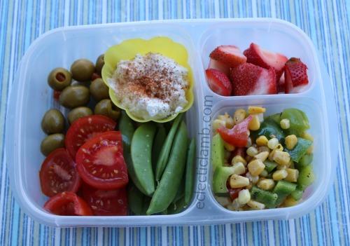 corn-salad-ricotta-lunch