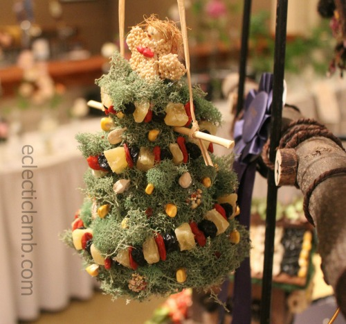 Birds On Christmas Tree: 3rd Flower Show Entry