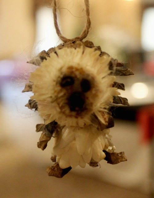 natural-hedgehog-christmas-ornament
