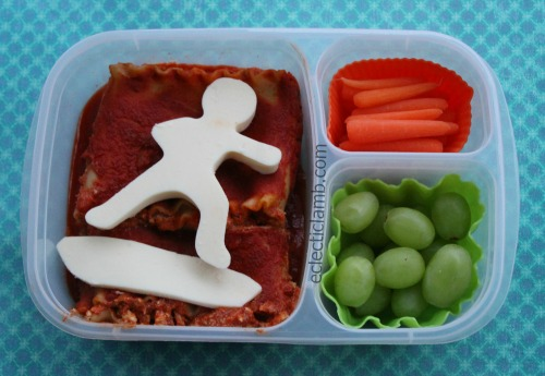 snowboard-lasagna-lunch