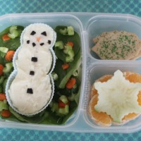 Polar Bear and Snowman Mashed Potato Lunches