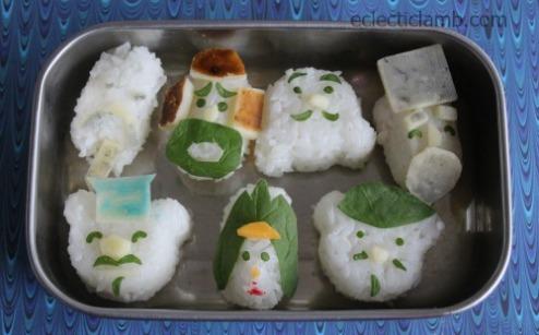 7 Lucky Gods Rice Bento