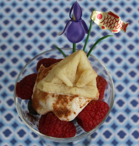 berry and yogurt dessert with pie crust garnish.jpg
