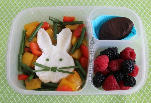Easter Bunny rice lunch