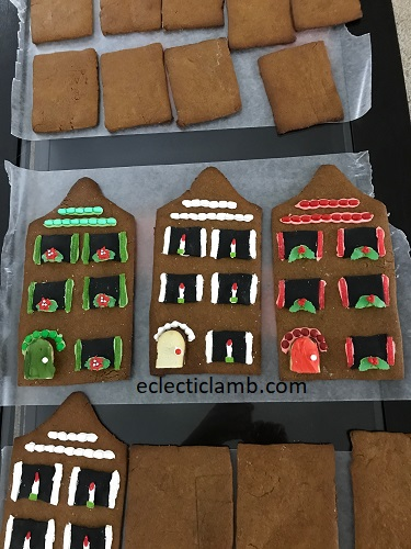 gingerbread house walls in progress