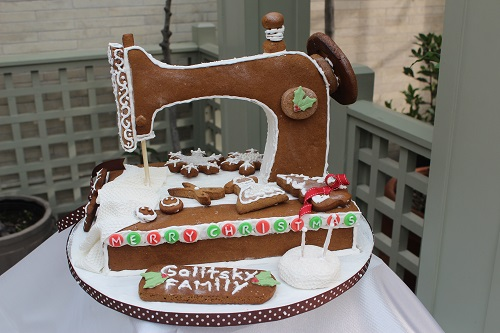 gingerbread sewing machine