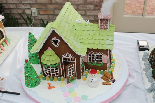 green roof gingerbread house