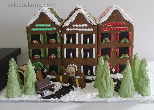 Row Houses at Christmas Gingerbread