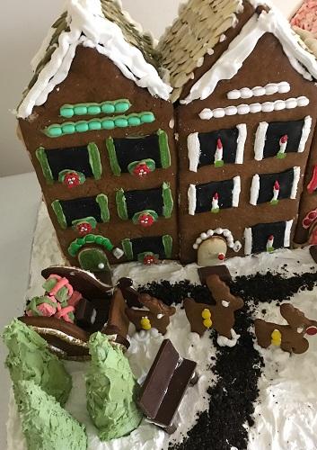 Santa Sleigh gingerbread