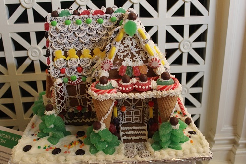 upside down ice cream cones gingerbread house
